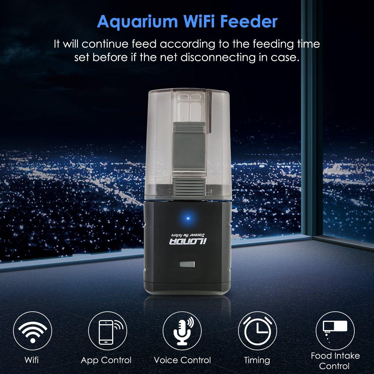 Petyoung Alimentador automático de Peces, Mando a Distancia WiFi o Temporizador de Comida para Peces, alimentador para Acuario - USB: Amazon.es: Productos ...