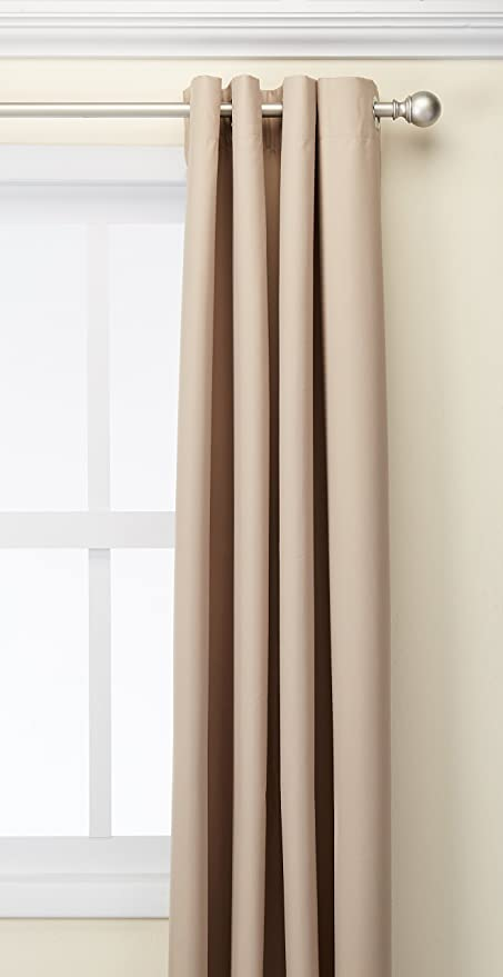Deconovo Oxford Thermal Insulated Curtains With Backside Silver