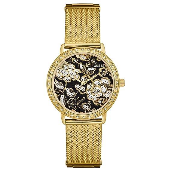 Guess Reloj Análogo clásico para Mujer de Cuarzo con Correa en Acero Inoxidable W0822L2: Amazon.es: Relojes