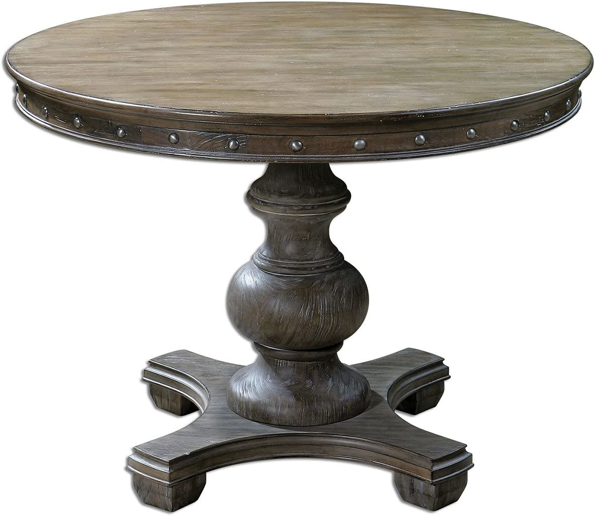 Uttermost Sylvana Wood Round Table, Gray