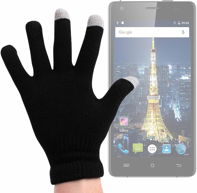 DURAGADGET Guantes Negros para Pantalla Táctil para Smartphone Cubot King Kong/Cubot Echo/Oukitel Mix 2: Amazon.es: Electrónica