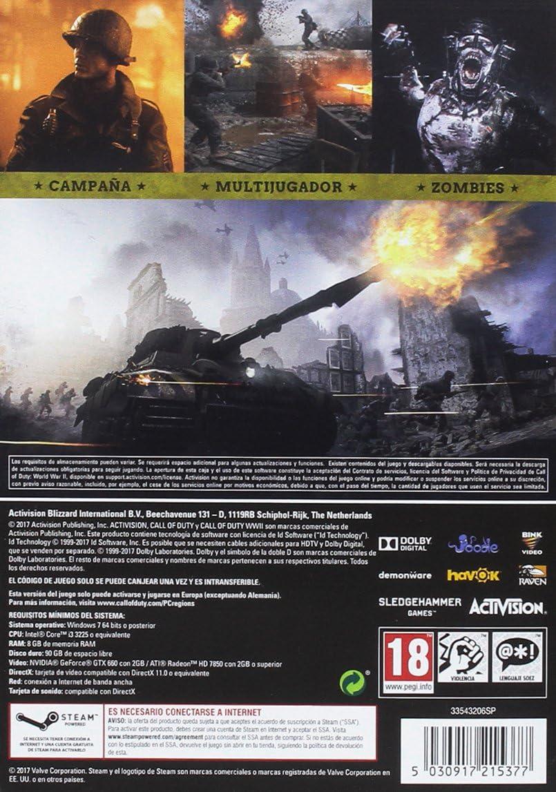 Call Of Duty WWII (La caja contiene un código de descarga): Amazon ...