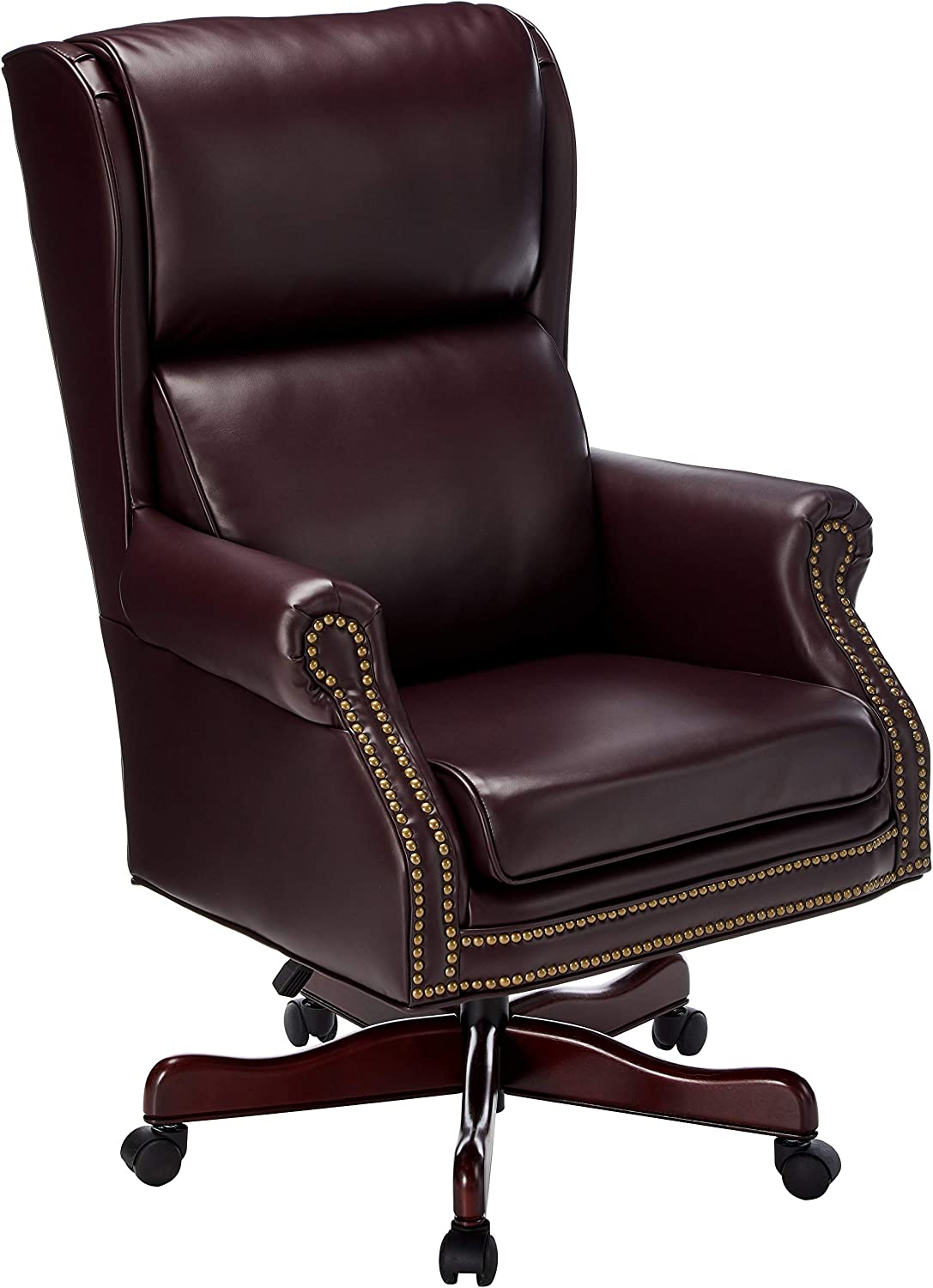 Lorell Swivel Executive Chair, 29 by 32 by 45-Inch-47-Inch, Burgundy