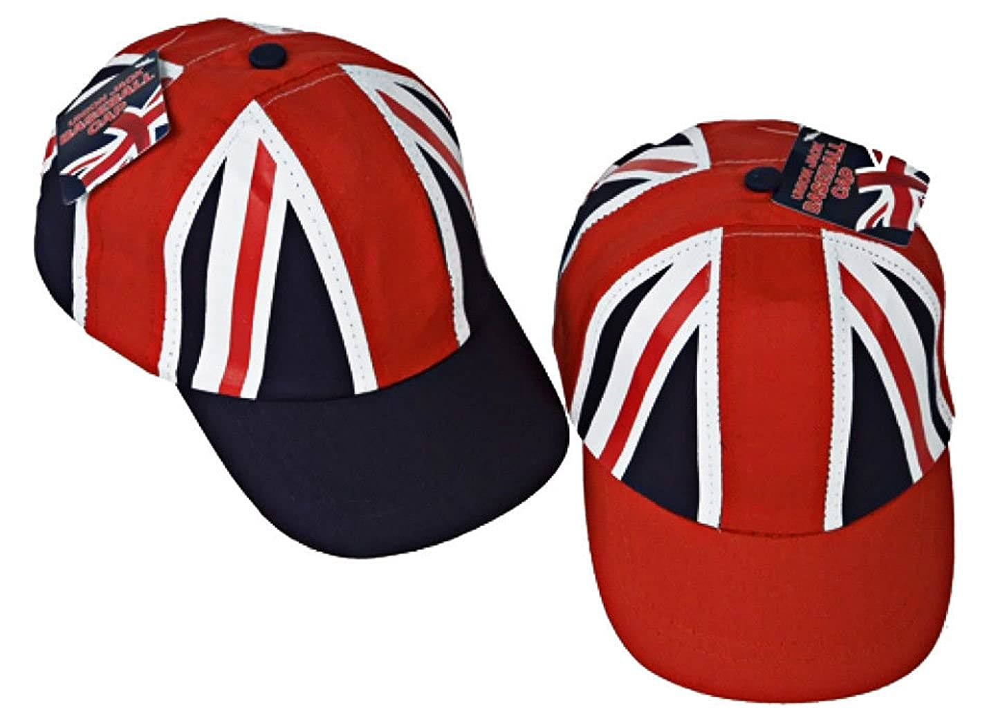 4cfd395dc Lizzy Deluxe Kids Unisex Union Jack Baseball Cap - Great Britain Flag Royal  Wedding Summer Hat
