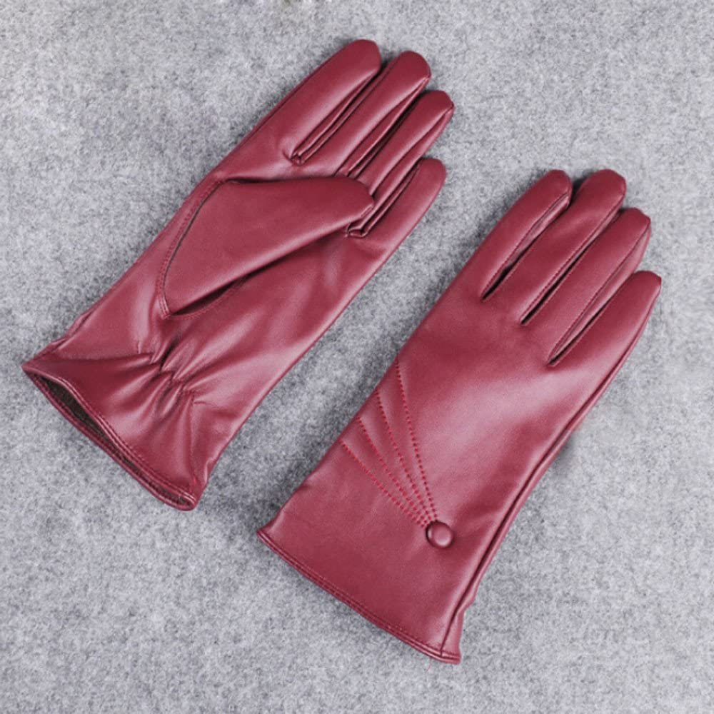 Leather Gloves Women Touchscreen Texting Driving Winter Warm Premium Nappa Gloves Fleece Lined Thermal Snow Gloves for Casual Outdoor Active