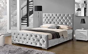 Sleep Design Buckingham Fabric Upholstered Bed Frame Doubleking