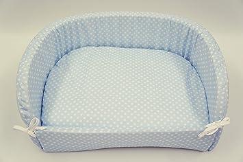 megawebstore Sofá Cama caseta para Perro cojín colchón para Perro, Mod. Lunares Azul MIS. 53 X 40: Amazon.es: Productos para mascotas