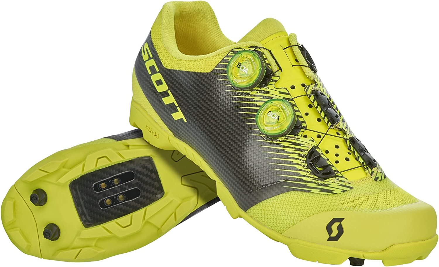 Scott MTB RC SL 2020 - Zapatillas de ciclismo, color amarillo y negro