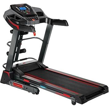 cinta de correr semiprofesional hasta 18km/hr con mancuernas, cinturon masajeador, disco giratorio