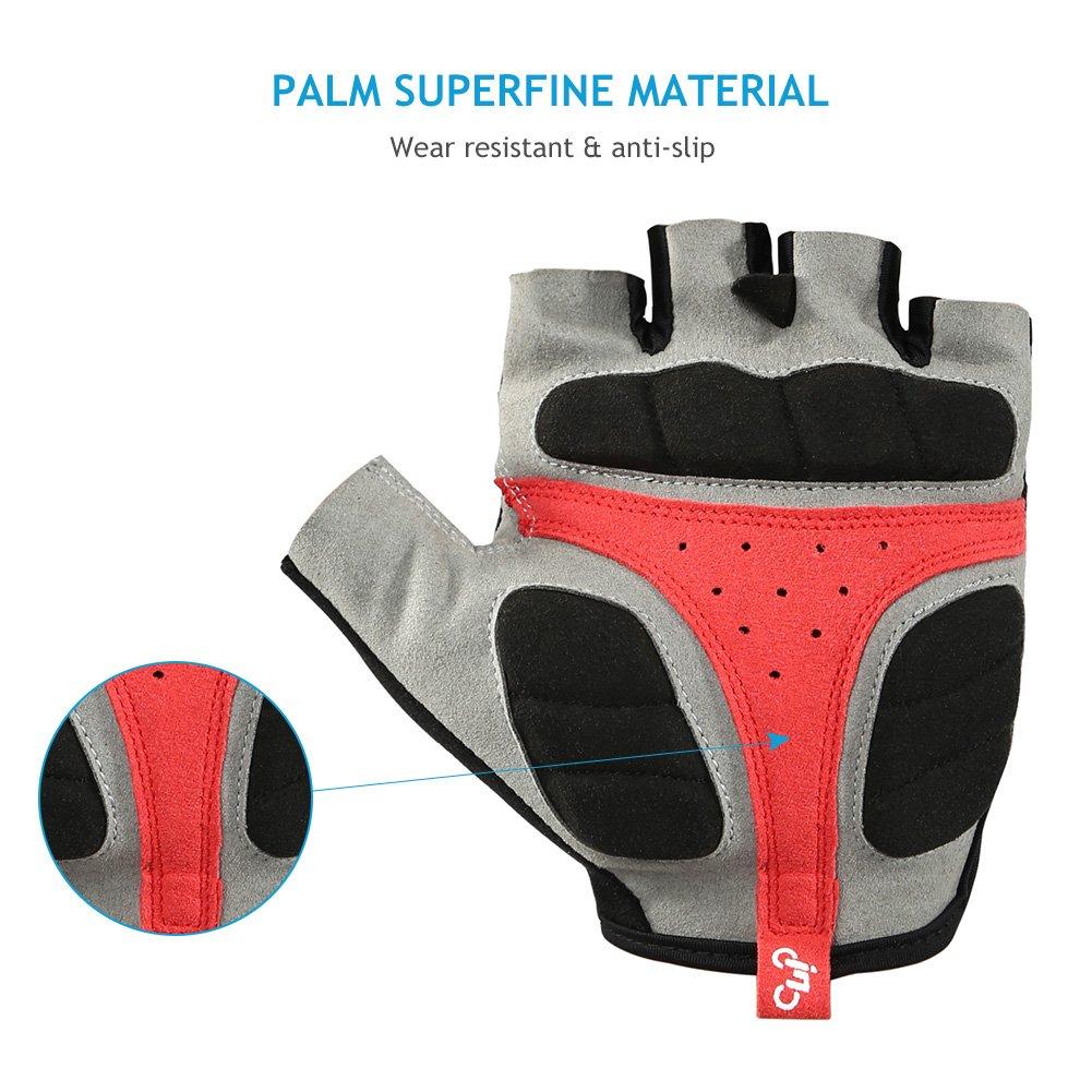INBIKE Bike Gloves Half Finger with 5mm Thick Padding for Men Women