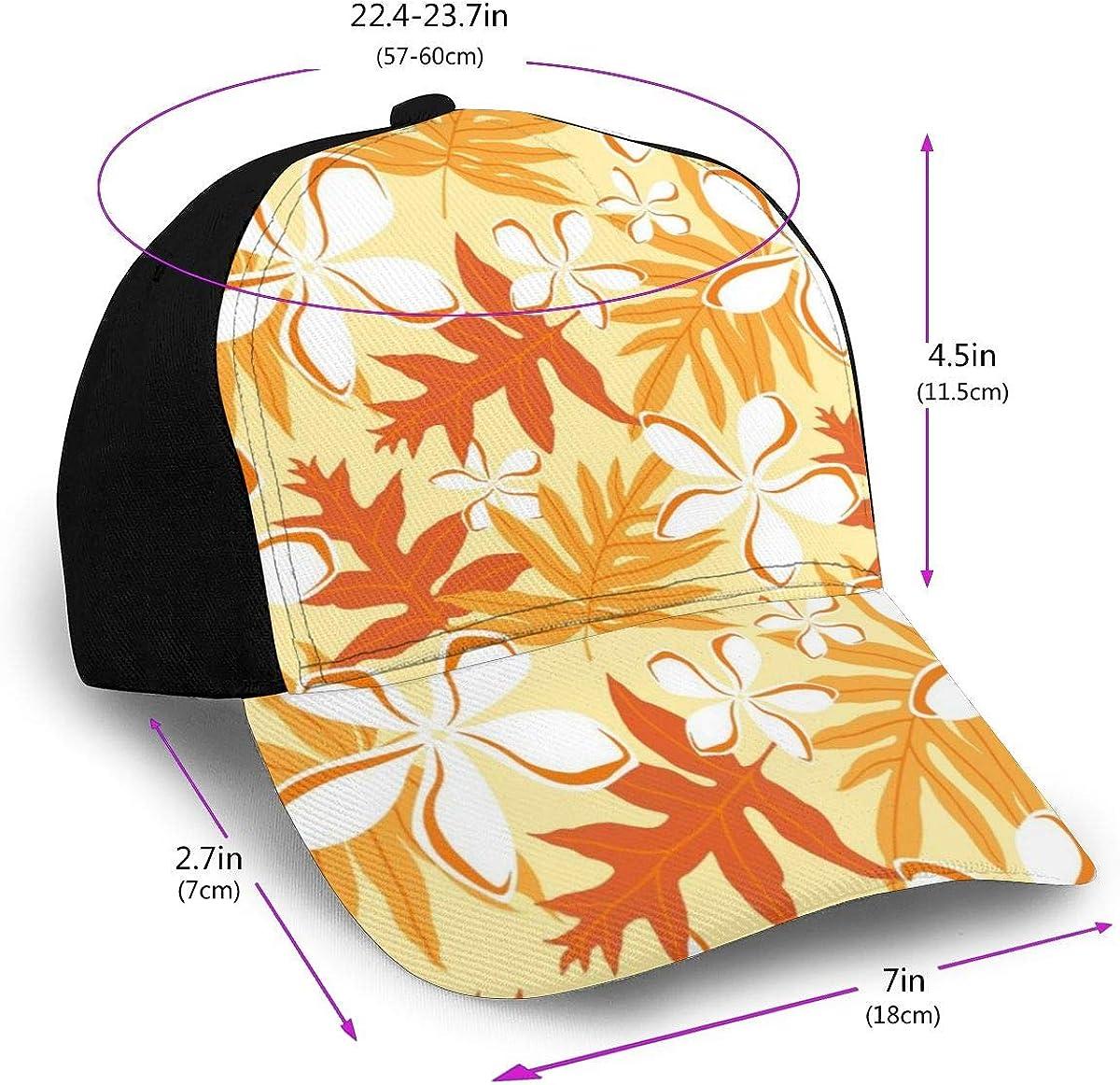 Yellow Orange Leaves Pattern Classic Baseball Cap Men Women Dad Hat Twill Adjustable Size