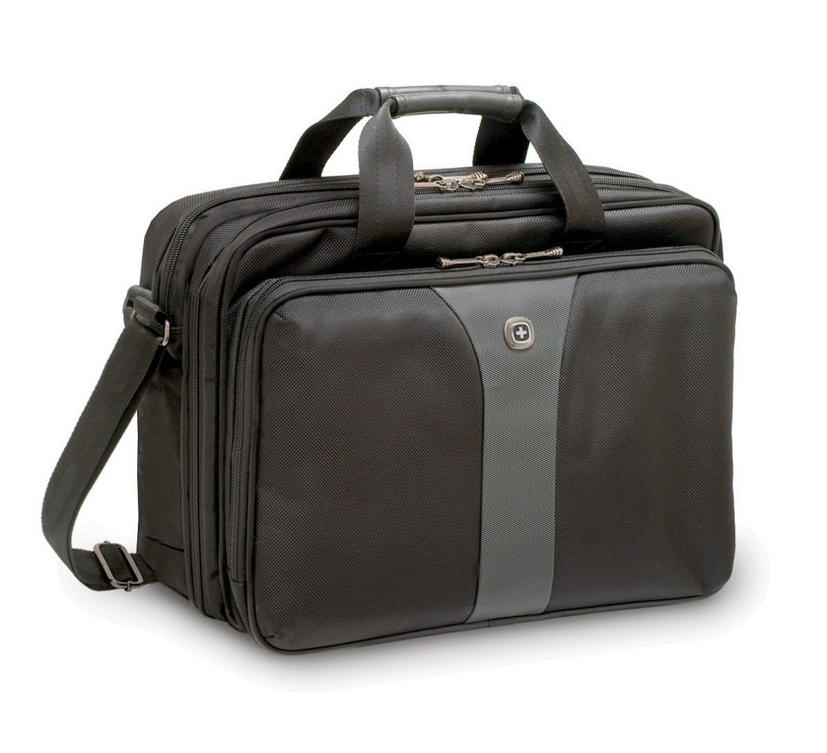 Wenger WA-7652-14F00 Legacy 16'' Double Gusset Laptop Case, Black/Gray by Wenger