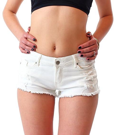 Instinct Shorts Femme Jean Court Blanc Noir Taille Haute Denim Courts Sexy  été Pantalon Short Mini Femmes  Amazon.fr  Vêtements et accessoires 368b7df1ea7