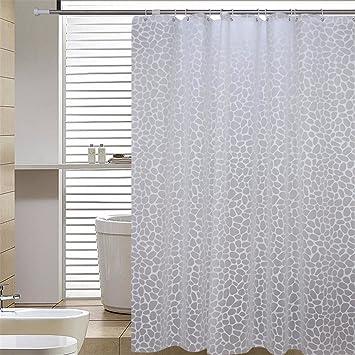 Qingv Wasserdichte mildewproof gepolsterte Badezimmer-vorhang ...
