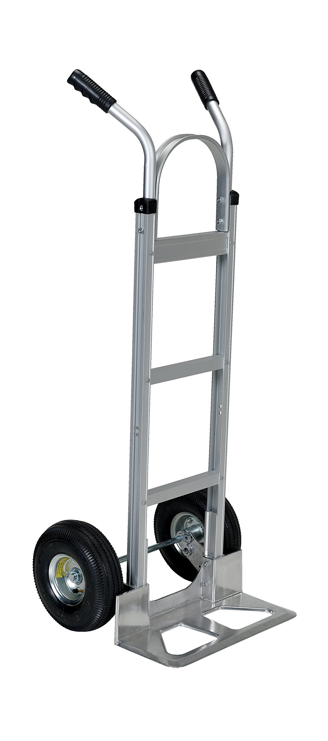 Vestil DHHT-500A-ANP Aluminum Hand Truck with Dual Handle, Pneumatic Wheels, 300 lbs Load Capacity, 50'' Height, 20-1/2'' Width X 19'' Depth