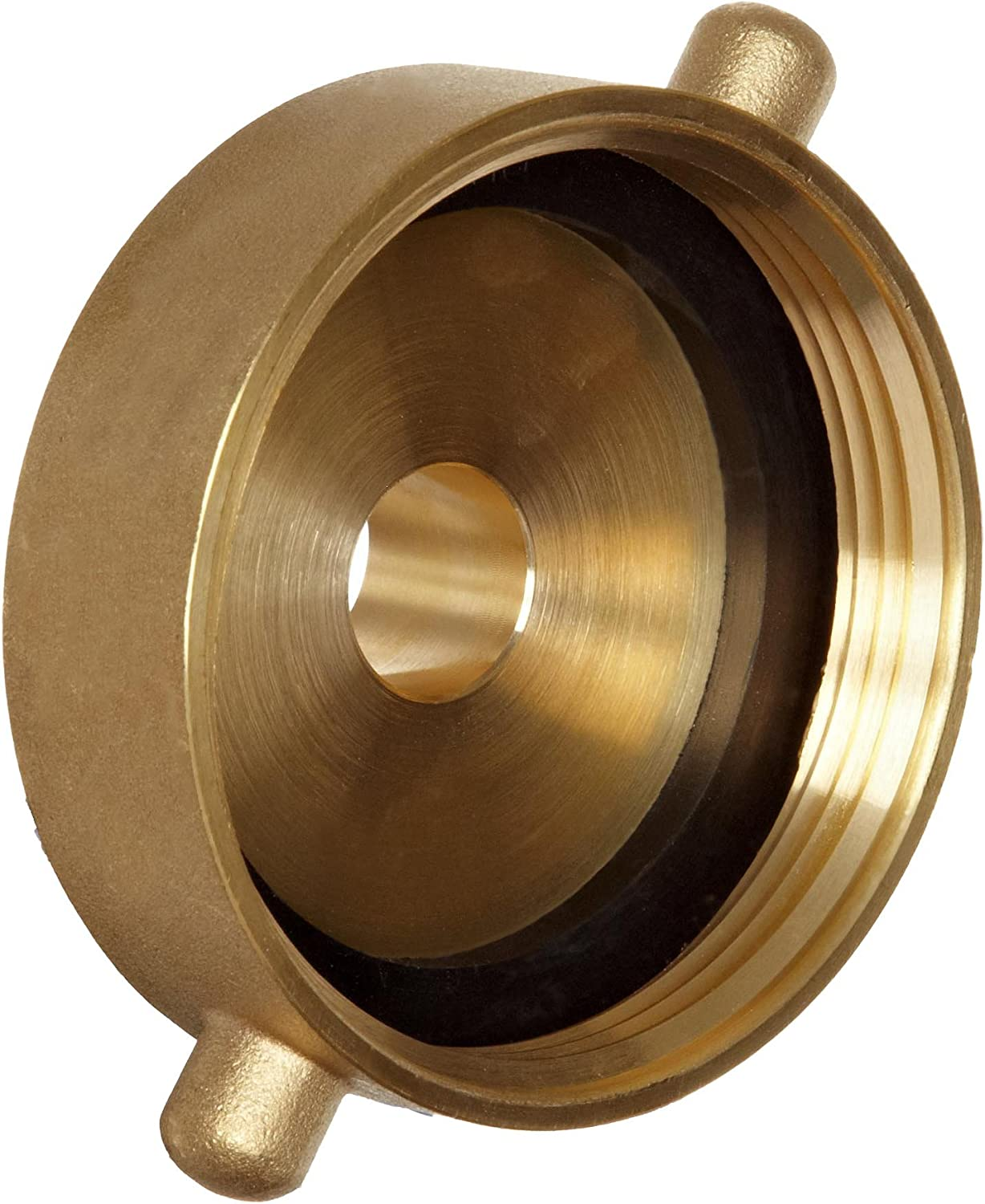 "Dixon Valve HA2576 Brass Fire Equipment, Hydrant Adapter with Pin Lug, 2-1/2"" NST (NH) Female x 3/4"" GHT Male"