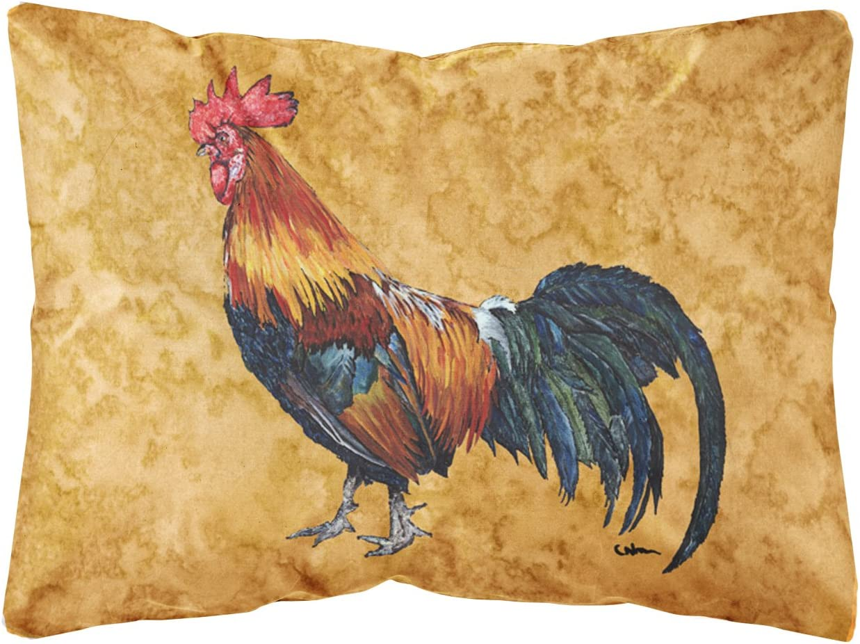 Caroline's Treasures 8651PW1216 Rooster Canvas Fabric Decorative Pillow