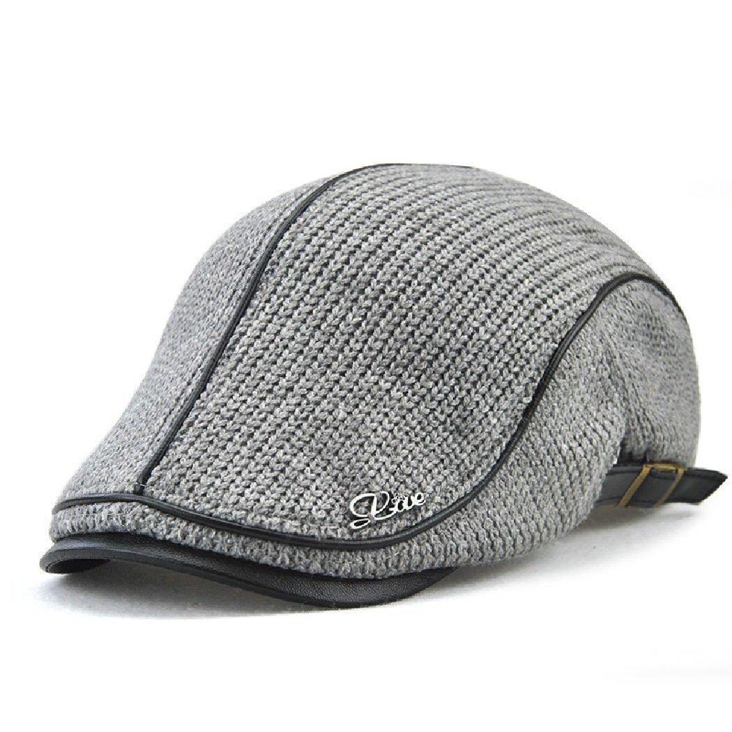 Jamont Men's Warm Flat England Style Hat Beret Visor Newsboy Cap