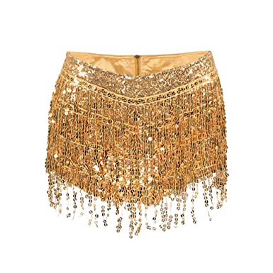 311f0318 Image Unavailable. Image not available for. Color: Sexy Tassel Sequin Mini  Shorts for Women Zipper High ...