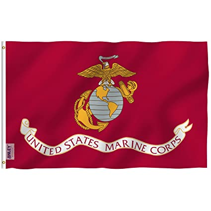 Anley Fly Breeze 3x5 Foot US Marine Corps Flag - Vivid Color and UV Fade  Resistant fbefea9fd