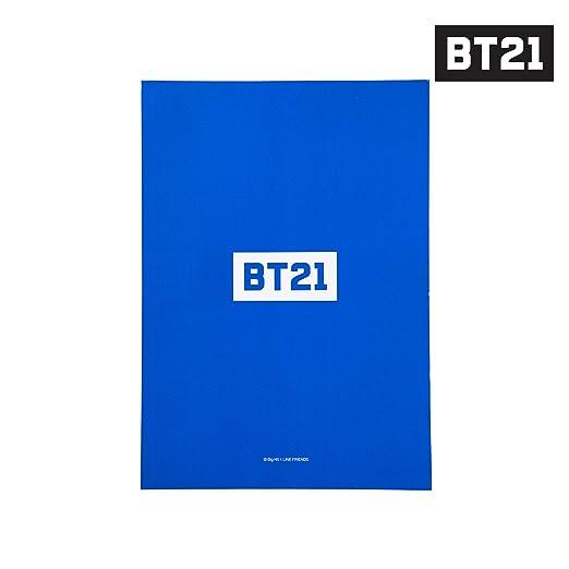 BT21 Chimmy Bloc de notas B5 Un tamaño Blue_Yellow Medio ...