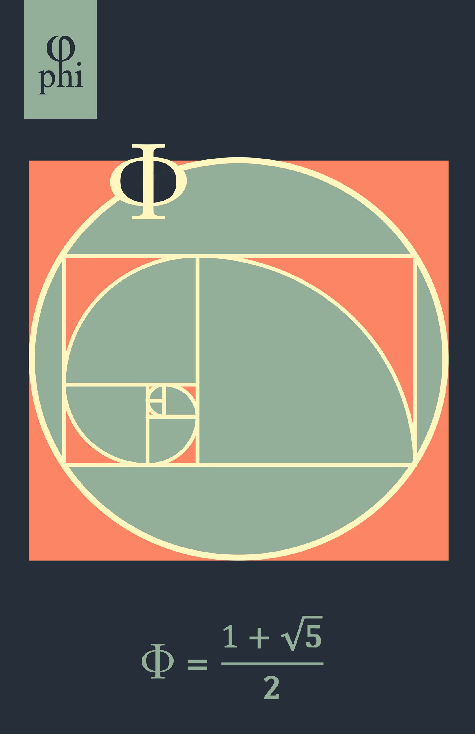Golden Ratio , Divine Proportion (Phi) Math Poster by Buttered Kat (Small (17 x 11 Inches))