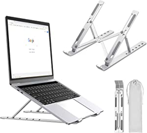 LUCYCAZ Foldable Laptop Stand, Adjustable Laptop Riser for Desk
