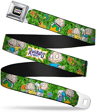 Buckle-Down Seatbelt Belt 1.0 Wide 20-36 Inches in Length RUGRATS Tommy /& Dill Poses Greens