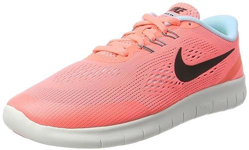 e43f0a29d6ed5 Nike Mädchen Free Rn (Gs) Laufschuhe Mehrfarbig (Lava Glow/metallic Silver  Black