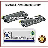 PACK AHORRO TYPE 1200 ,Tóner para Ricoh Aficio SP 1200SF - Impresora multifunción láser