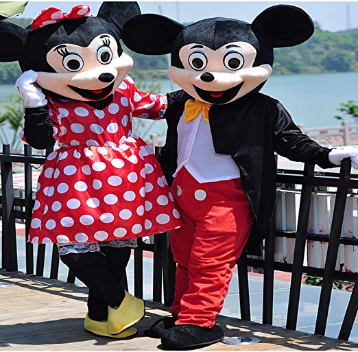 Minnie Mickey Mascot Cartoon Doll Costume Walking Cosplay Props ...