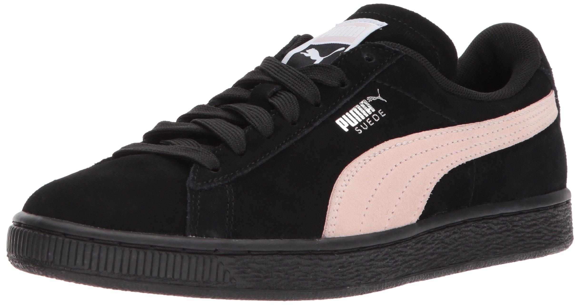 PUMA Women's Suede Classic Wn Sneaker, Black-Pearl, 8 M US