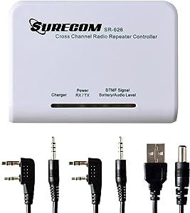 Mcbazel Surecom SR-628 Cross Band Duplex Repeater Controller with 2 x K Plug 46-K Cable for Kenwood Baofeng PUXING WOUXUN QUANSHENG