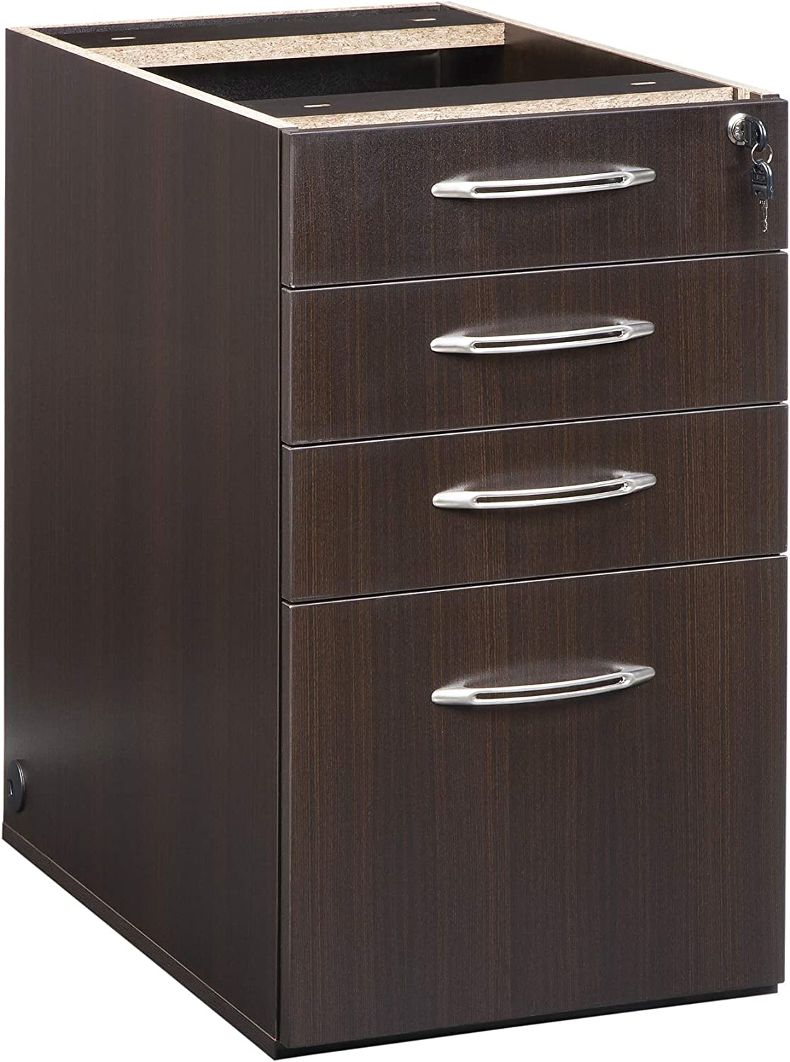 Mocha Tf sold separately Mayline APBBF26LDC Aberdeen 26D Desk Pedestal PBBF for use with Desk