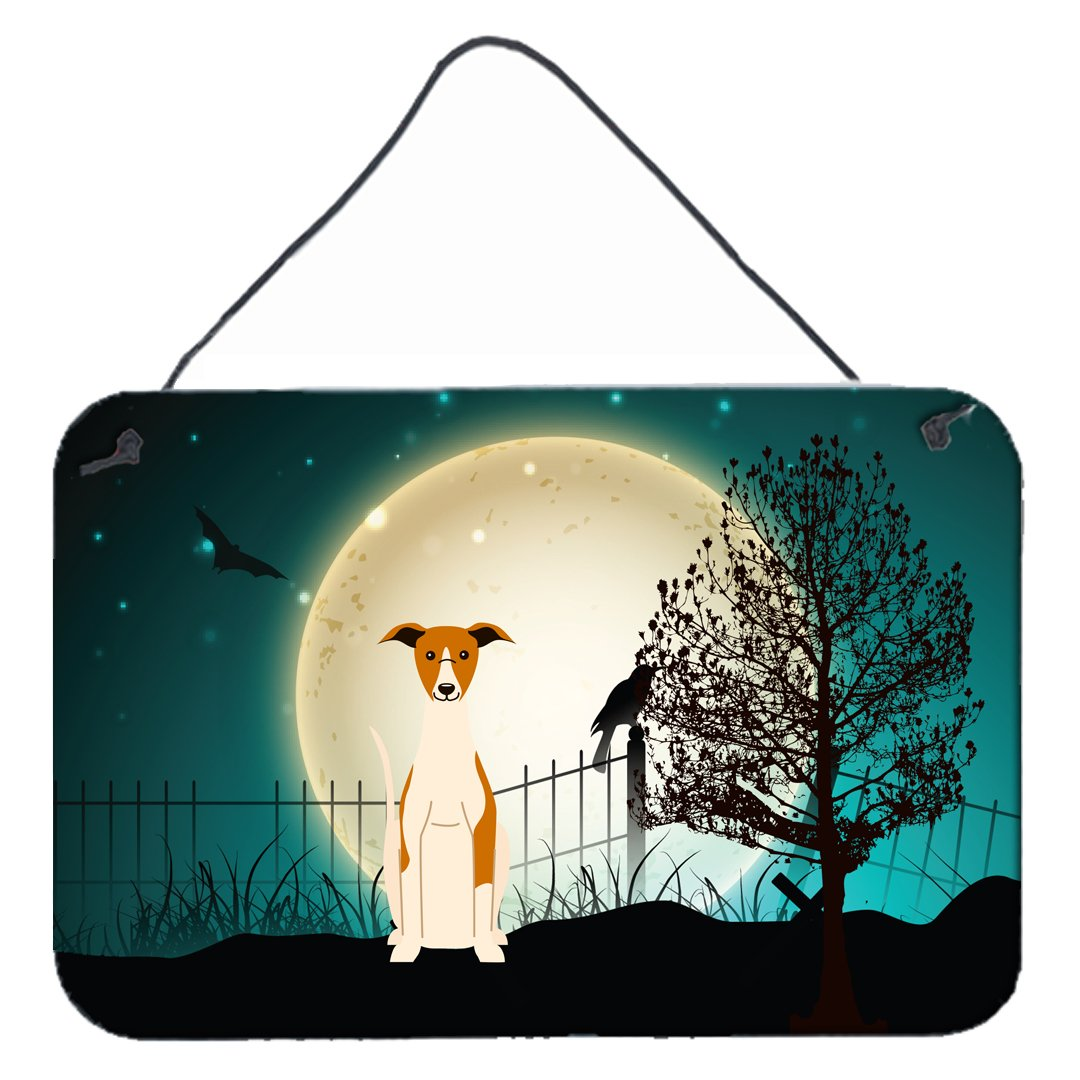 Carolines Treasures Halloween Scary Whippet Wall or Door Hanging Prints BB2289DS812 8 x 12,
