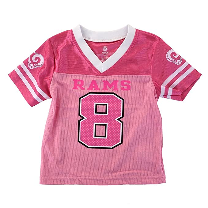 Amazon.com   Outerstuff Sam Bradford NFL Los Angeles Rams Mid Tier Pink  Fashion Toddler Jersey (2T-4T)   Sports   Outdoors 1a97480b9