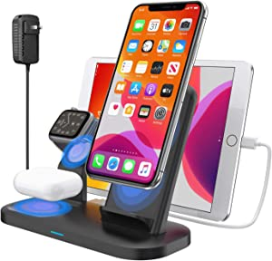 Wireless Charger 3 in 1 Wireless Charging Dock Station for Apple Airpods 2/Pro Fast Wireless Charger Stand for iPhone 11/11pro Max/X/XS/XR/8/8 Plus, Compatibility with Apple Watch Series 5/4/3/2/1