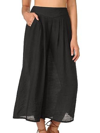 WAJAT - Falda-Pantalon para Mujer a Media Pierna: Amazon.es: Ropa ...