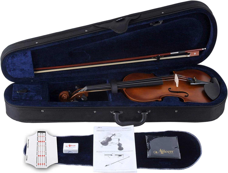 Aileen Violín 4/4 Principiante con Engomada del Tablero de Violín, Manual de Usuario, Estuche Rígido, Arco, Colofonia, Puente y Paño de Pulido: Amazon.es: Instrumentos musicales