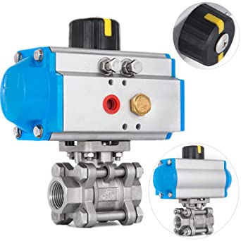 Hydraulics, Pneumatics, Pumps & Plumbing 3/4 Pneumatic Ball Valve Double Acting 3-Piece Dairy Brewery Air Actuated hydraulic ball valve