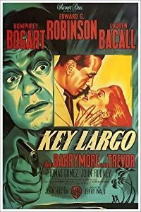 Key Largo Humphrey Bogart Vintage Movie Poster CANVAS Print