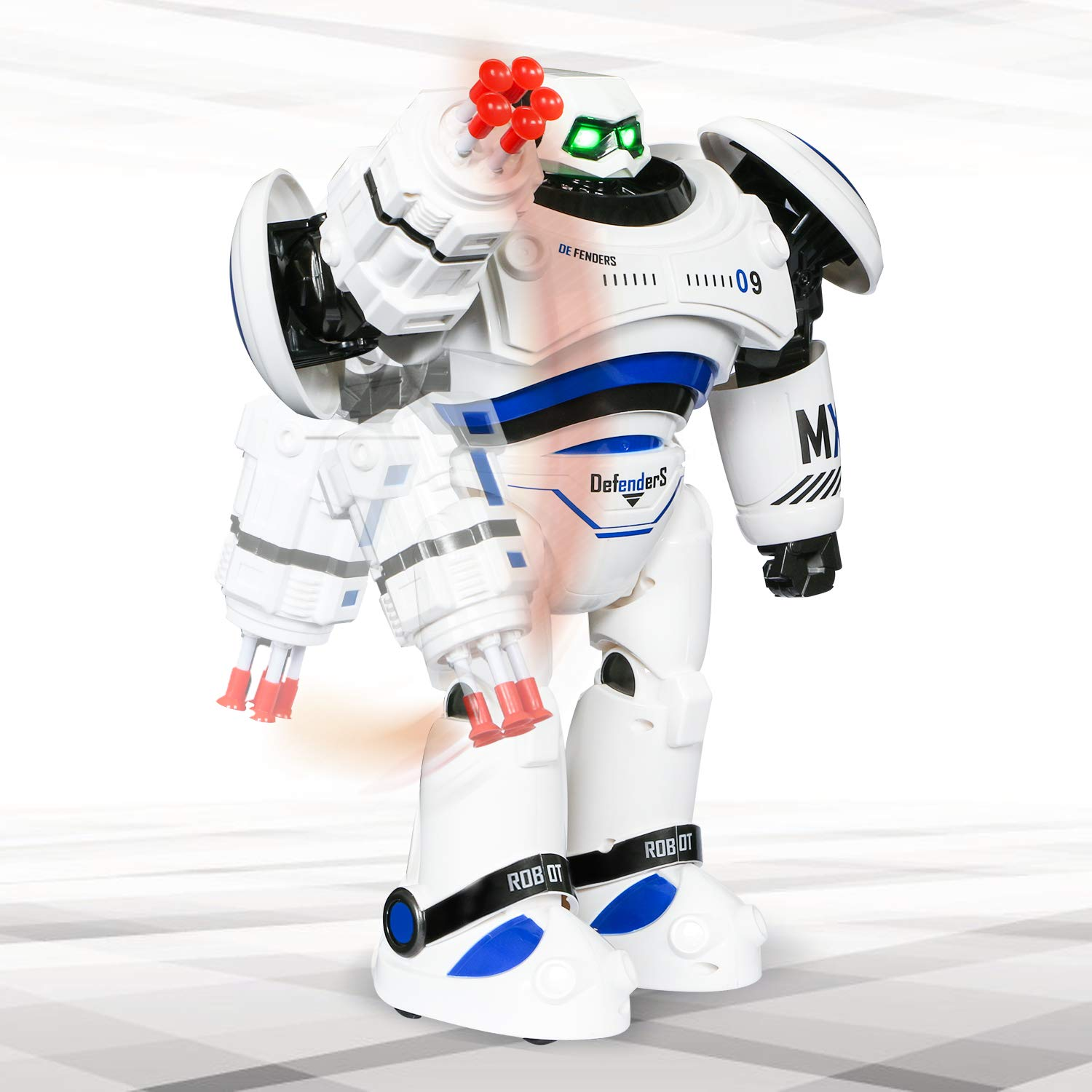 SGILE RC Robot Toy, Programmable Intelligent Walk Sing Dance Robot for Kids Gift Present, White by SGILE (Image #4)