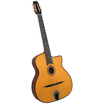 Gitane Gypsy Jazz Guitars DG-255 - Guitarra acústica con cuerdas metálicas