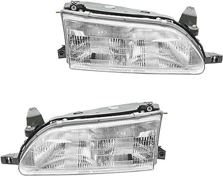 Headlights Headlamps Left /& Right Pair Set for 01-03 Toyota Highlander