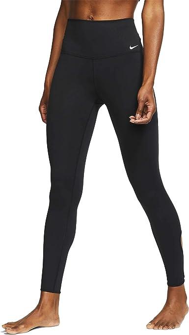 A fondo Empuje Zapatos  Amazon.com : Nike Women's Yoga 7/8 Tights Black/White XS : Clothing