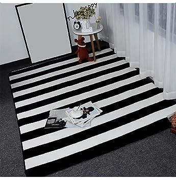 Creative Light Schwarz Weiß Gestreiften Plaid Einfach Zu Reinigen