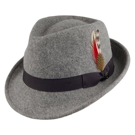 43009f4e522 Jaxon   James Detroit Trilby Hat - Flannel Large  Amazon.co.uk  Clothing