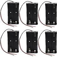 KEESIN Batterie 3.7 V 18650 support de batterie boîtier en plastique boîte de rangement avec Wire Leads et fixation serre-câbles((2 gouttes × 6 pièces))