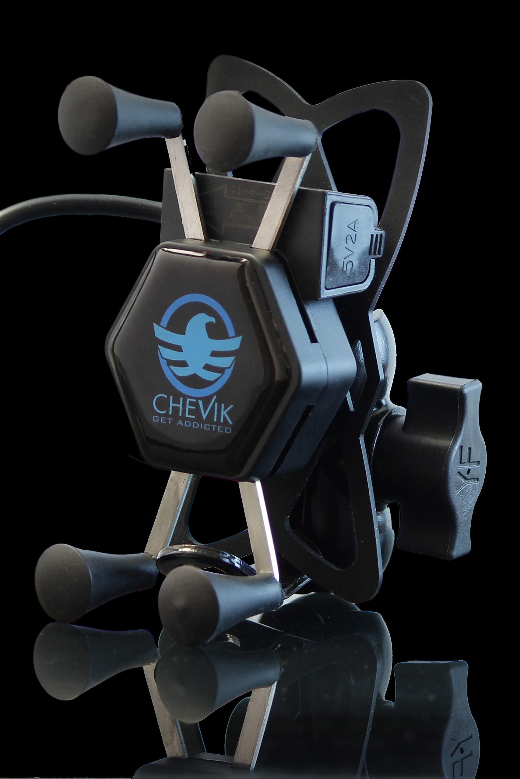 Chevik X-Grip Bike Mobile Holder with Charger Waterproof product image