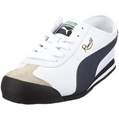 Puma 350100 12 Roma 68 Vintage Leather Mens Trainers White Size  13 ... 10bf2022c